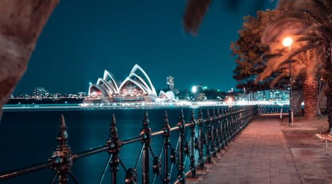 Sydney australia di notte